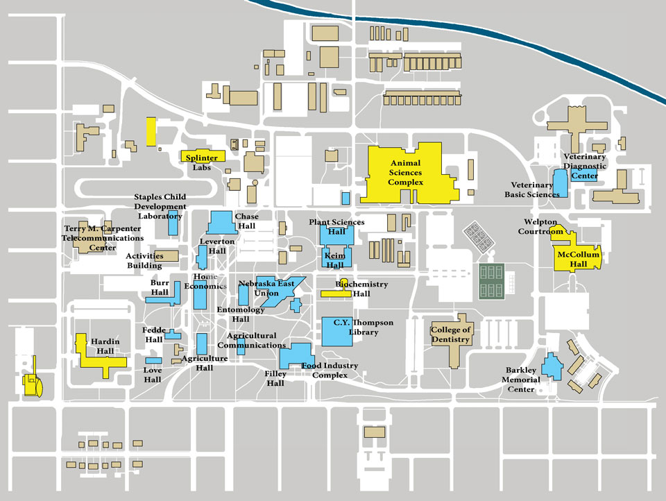 East Campus Wireless Map | Information Technology Services | Nebraska