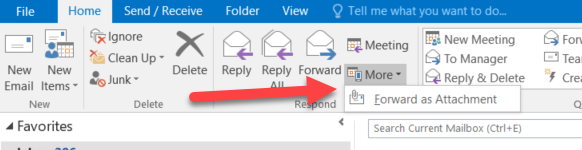 Forward email as attachment
