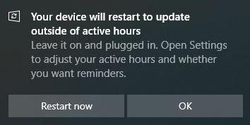 Windows Update Restart