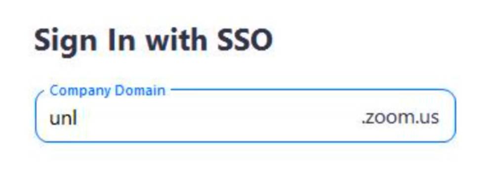 zoom sign in SSO screenshot