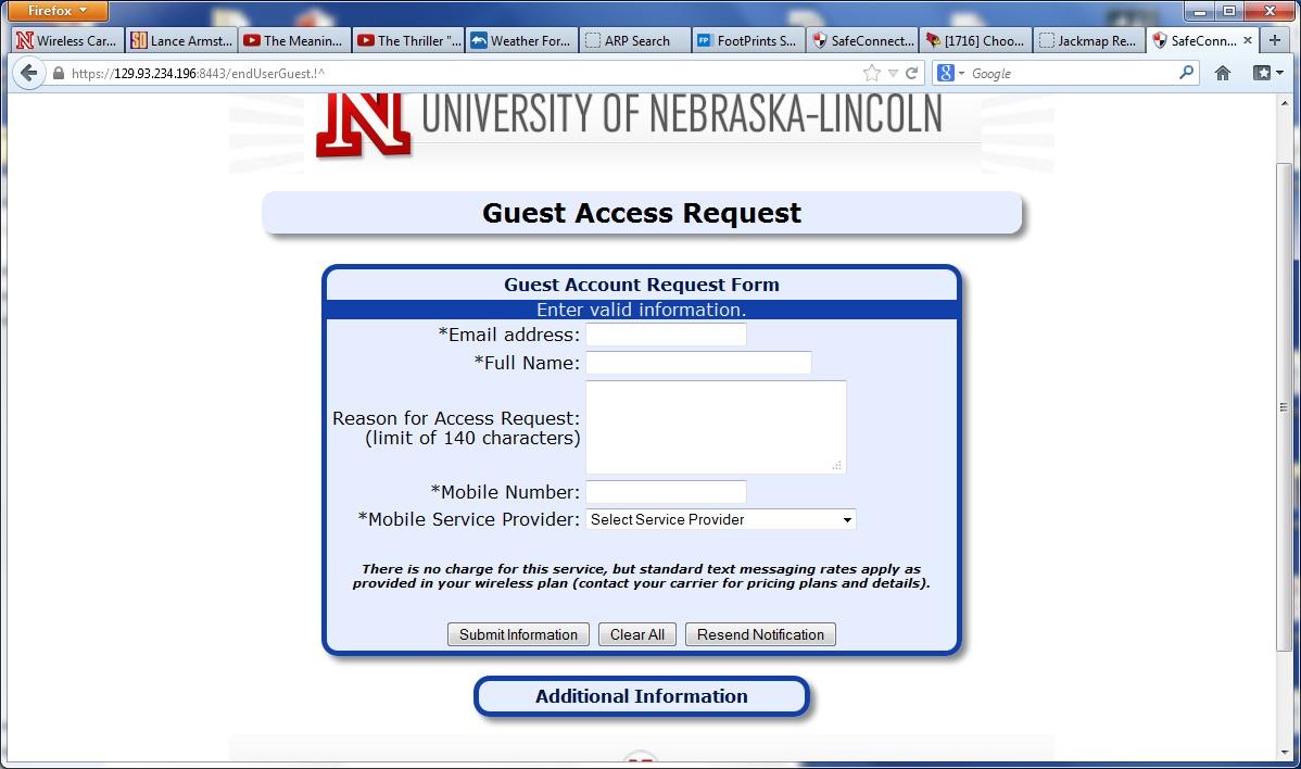 UNL-GUEST | ITS | Nebraska
